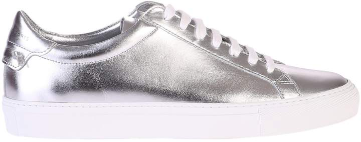Givenchy Metallized Silver Sneakers