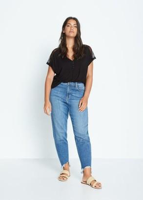 MANGO Lace applique T-shirt