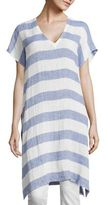 Eileen Fisher Long Striped Linen Tunic