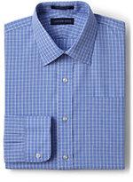 Classic Men's Regular Long Sleeve Pattern Straight Collar Broadcloth Shirt-True Blue