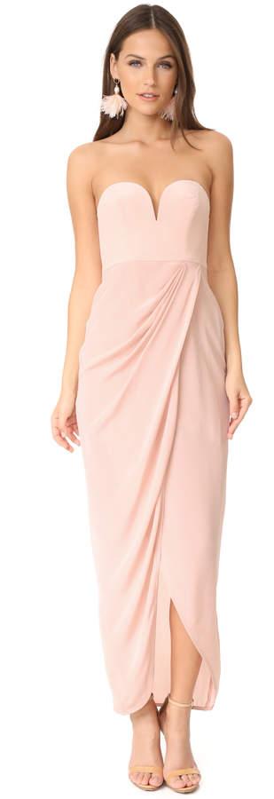 Zimmermann Strapless Drape Maxi Dress