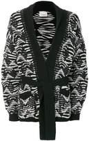Laneus contrast cardigan
