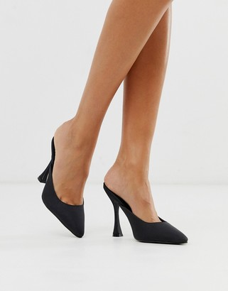 Truffle Collection pointed high heel mules in black