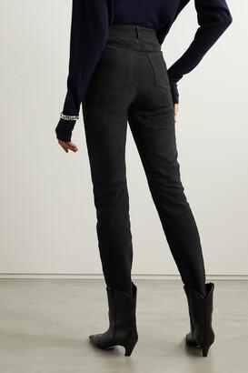 Deadwood + Net Sustain Phoenix Suede Straight-leg Pants - Black