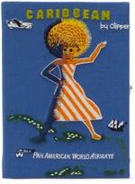 Olympia Le-Tan Olympia Le Tan Caribbean Embroidered Book Clutch - Womens - Blue Multi