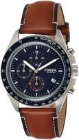 Fossil Men's Quartz Stainless Steel and Leather Automatic Watch, Color:Brown (Model: CH3039)