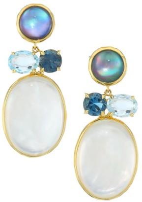 Ippolita Rock Candy 18K Yellow Gold & Multi-Stone Drop Earrings