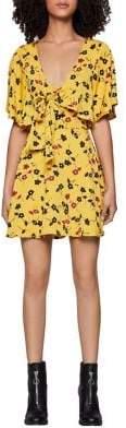 BCBGeneration Bow-Tie Ruffle Mini Dress