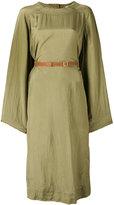 Loewe belted long sleeve dress - women - Viscose - 38