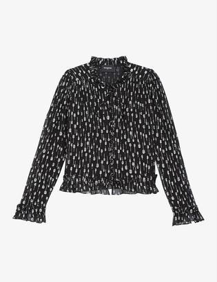 The Kooples Lame-detail crepe shirt