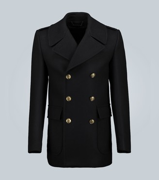 Givenchy Contrast-button wool peacoat