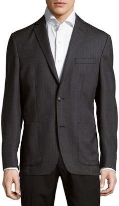 Saks Fifth Avenue Herringbone Wool Jacket