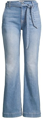 JEN7 by 7 For All Mankind Belted Flare Jeans