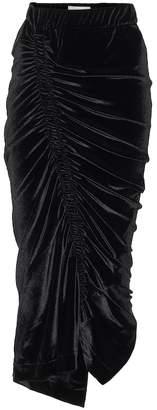 Preen by Thornton Bregazzi Minnie velour midi skirt