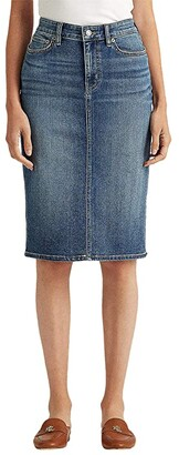 Lauren Ralph Lauren Denim Skirt (Sunset Indigo Wash) Women's Skirt