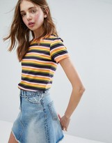 Monki Multi COLORED Stripe Top