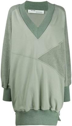 Off-White Textured Oversized Sweatshirt