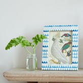 Graham and Green Bone Frame With Blue Triangles Print