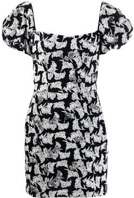 Johanna Ortiz square neck floral print dress