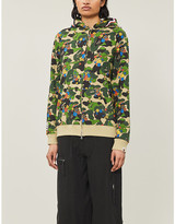 Bape Flower and camouflage-print cotton-jersey hoody