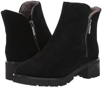VALDINI Ivory Waterproof Boot (Black Suede) Women's Shoes