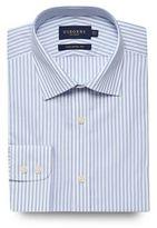 Osborne Big And Tall Blue Striped Print Tailored Fit Shirt