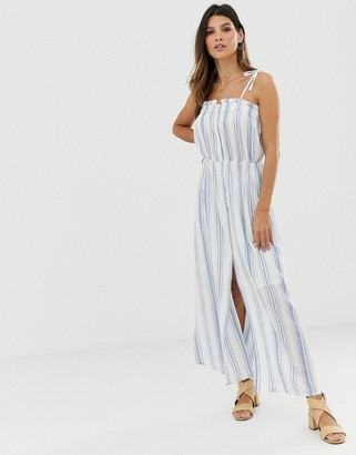 Y.A.S stripe tie shoulder sun dress