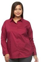 Apt. 9 Plus Size Structured Essential Button-Down Shirt