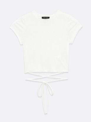 New Look Strappy Hem Tshirt