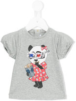 Little Marc Jacobs panda print T-shirt - kids - Cotton/Modal - 12 mth