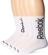 Reebok Men's 5 Pack Performance Crew Oversize Logo Sock