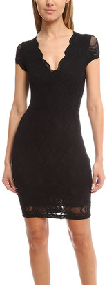 Nightcap Clothing Victorian Deep V Pencil Dress
