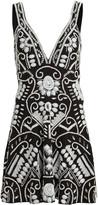 Alexis Jerza Beaded Mini Dress