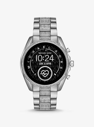 Michael Kors Gen 5 Bradshaw Pave Silver-Tone Smartwatch