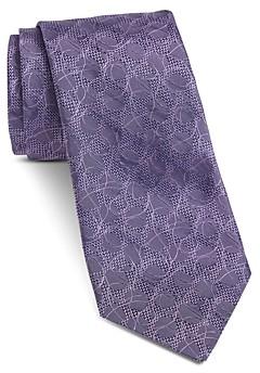John Varvatos Fillmore Vine Leaf Textured Silk Classic Tie