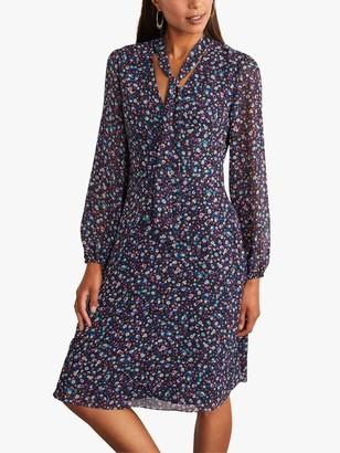 Boden Imogen Floral Tie Neck Dress