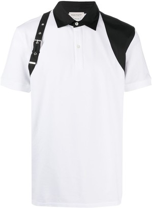 Alexander McQueen Buckle Detail Polo Shirt