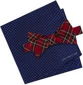 Tommy Hilfiger Men's Royal Stewart Bow Tie & Dot Pattern Pocket Square Set