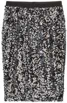 H&M Sequined Skirt - Black/silver-colored - Ladies