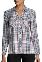 Joie Cenna Multicolor Plaid Shirt