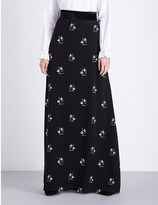 Vilshenko Riley floral-print crepe maxi skirt