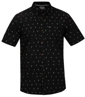 Hurley Men's Birds Stretch Plaid Shirt
