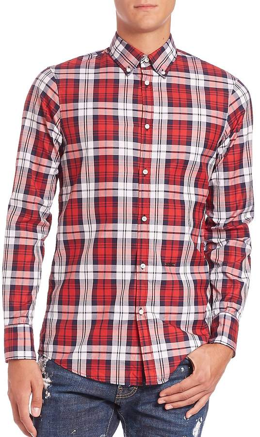 DSQUARED2 Men's Classic Check Sportshirt