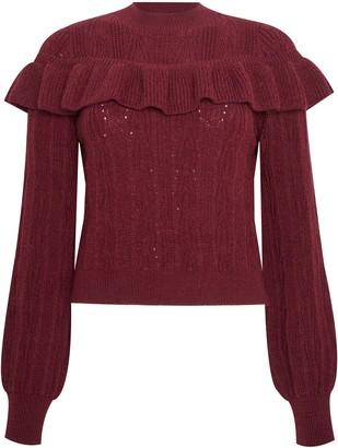 Miss Selfridge Frill Prairie Knitted Jumper