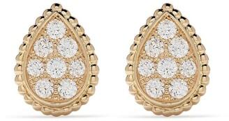Boucheron 18kt yellow gold Serpent Boheme diamond S motif stud earrings
