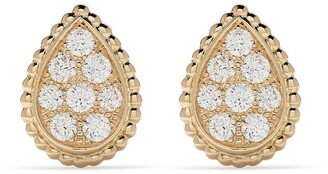 Boucheron 18kt yellow gold Serpent Bohème diamond S motif stud earrings
