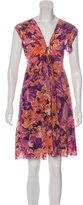 Just Cavalli Silk Floral Print Dress w/ Tags