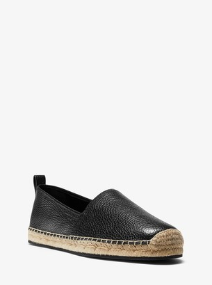 Michael Kors Owen Pebbled Leather Espadrille