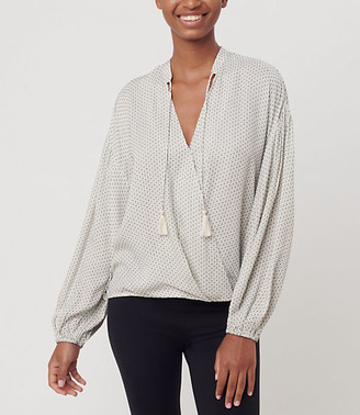 LOFT Lou & Grey Pickstitch Wrap Shirt
