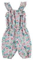 Mayoral Sleeveless Floral Poplin Jumpsuit, Jade/Multicolor, Size 12-36 Months